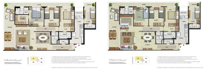 Apartamento 3 quartos 2 suítes