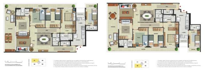 Apartamento 4 quartos 3 suítes