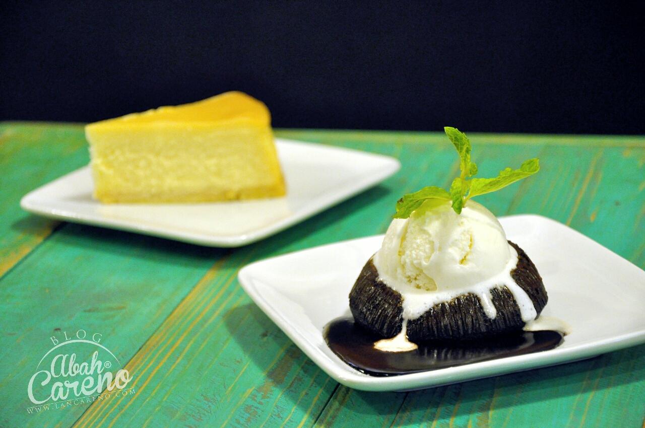 Volcano Chocolate Cke with Ice Cream - RM10.50 & American Baked Cheese Cake - RM9.50