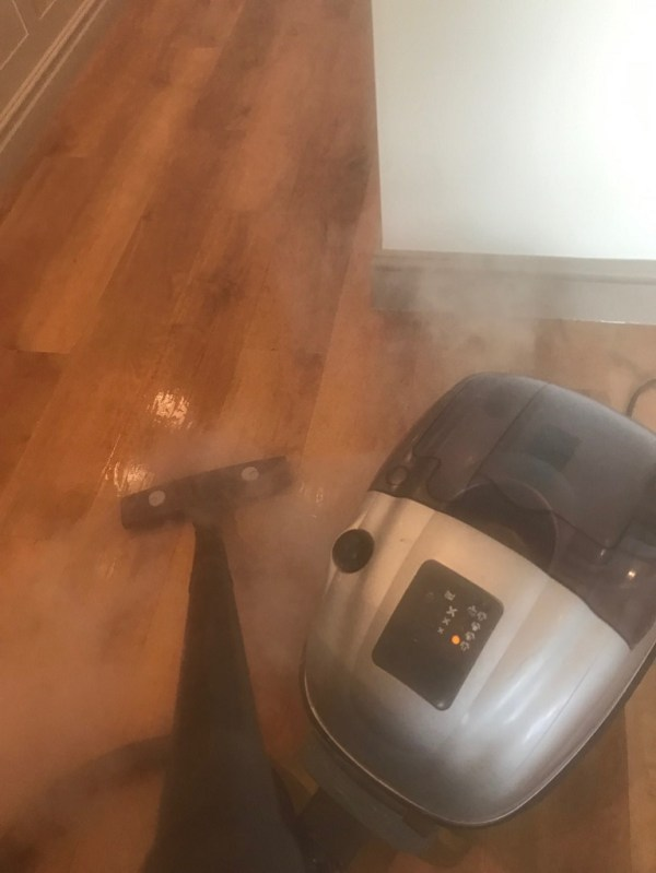 Amtico Floor Silverdale During Steam Cleaning