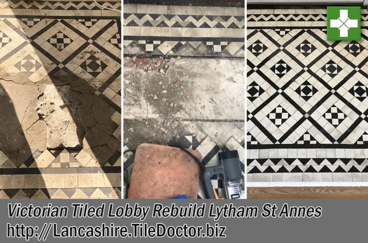 Victorian Tiled Lobby Floor Restoration Lytham St Annes