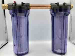 Double Water Filter with Carbon Filter Assembly