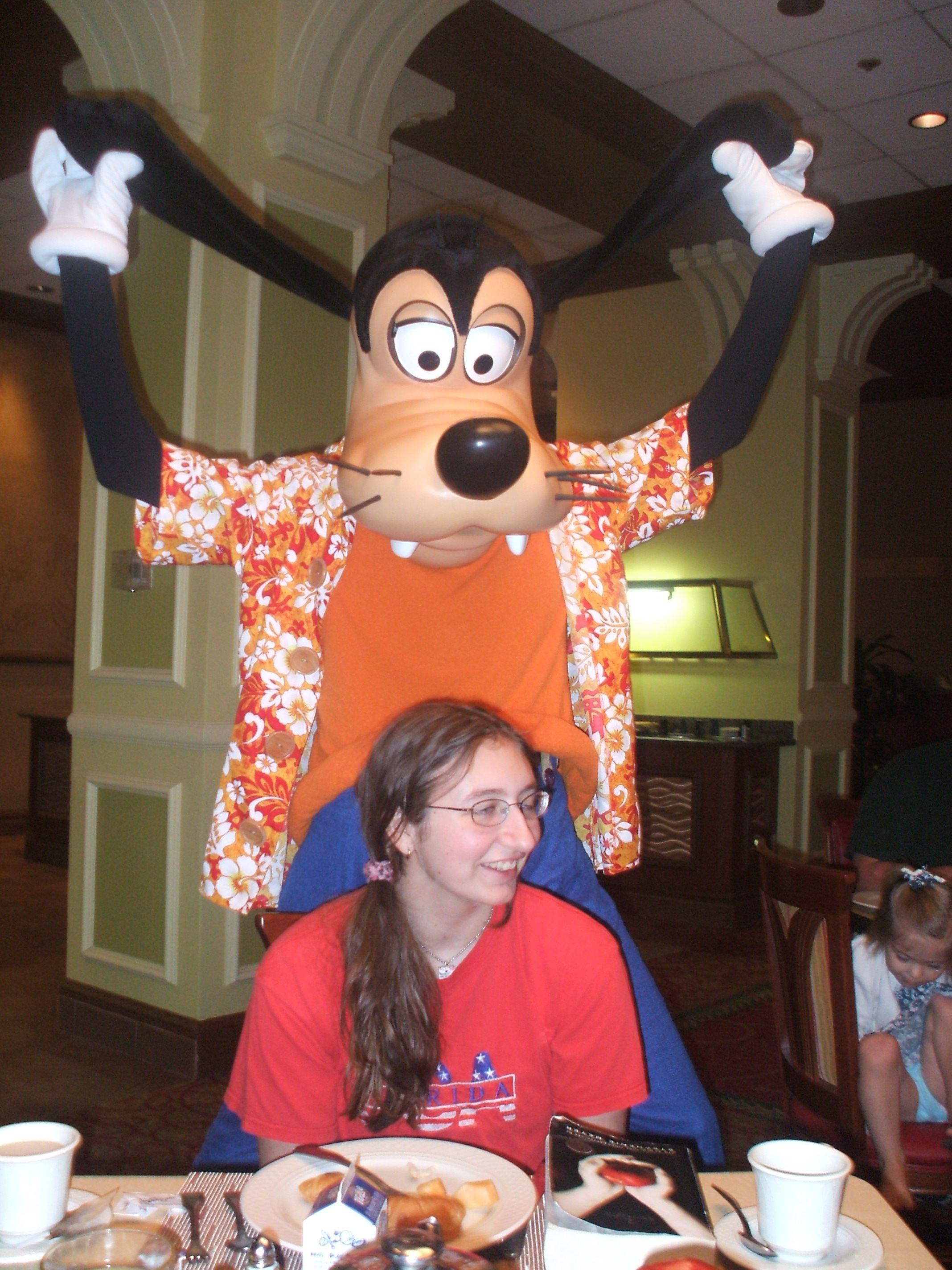Goofy acting, well, goofy with # 1 Daughter