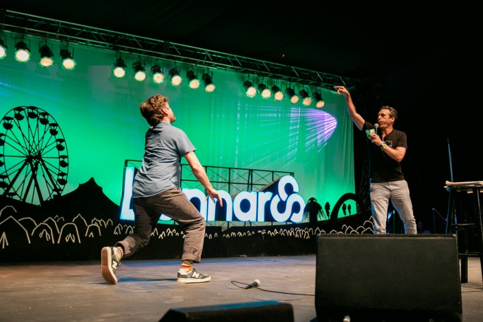 Zach Galifianakis & Jon Hamm at Bonnaroo 2015