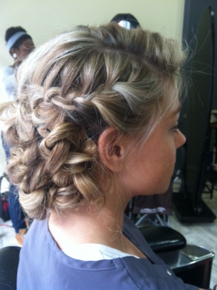 Braid updo hairstyle by top hair stylist