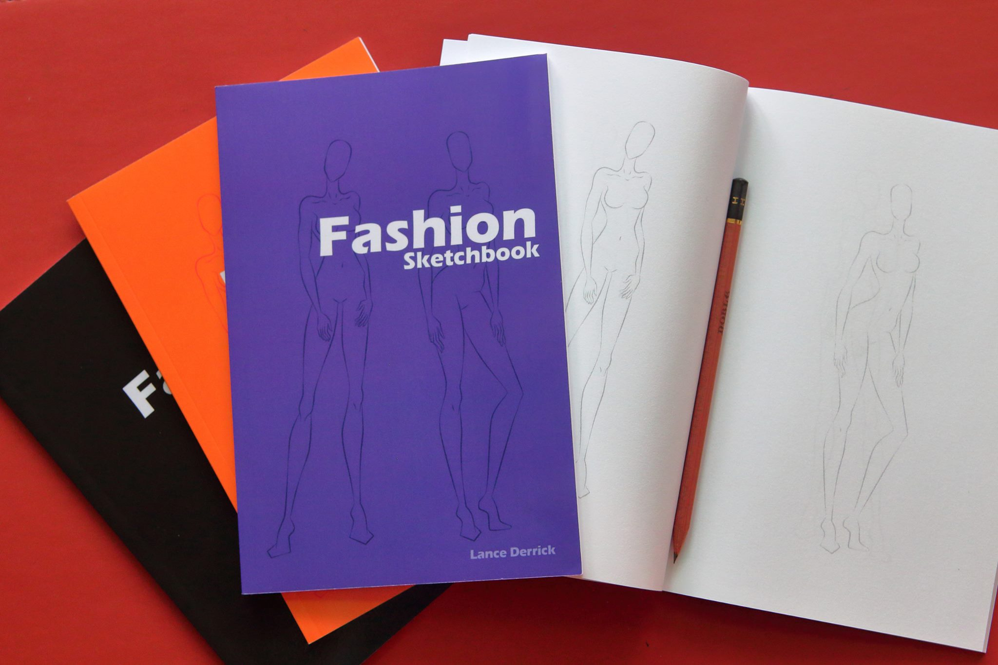 My first fashion sketchbook is now selling on Amazon.