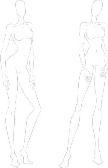 100 figure template fashion sketchbook easily create your fashion
