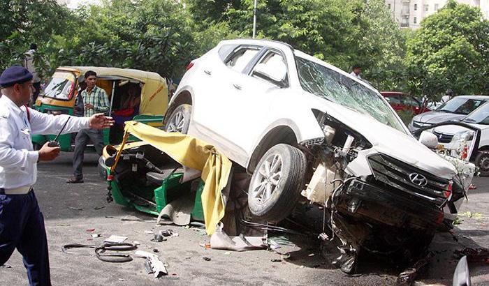 Rash driving in India