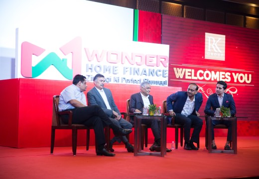 The main panel discussion during the Wonder Home Finance event