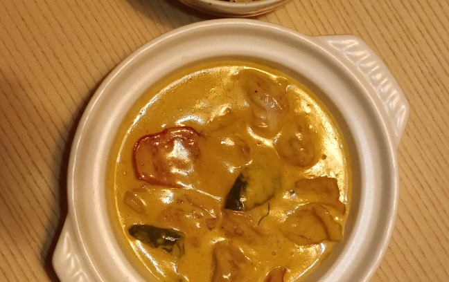 Balinese curry in yellow coconut flavor - Best Japanese Restaurant in Mumbai