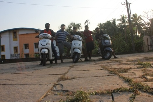 Our beloved scooty in Goa