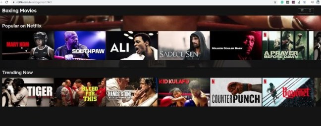 Netflix Categories from the letter B