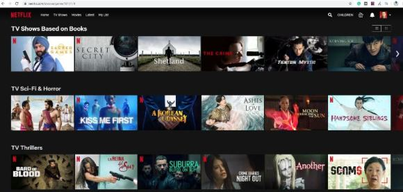Netflix Categories from the letter D