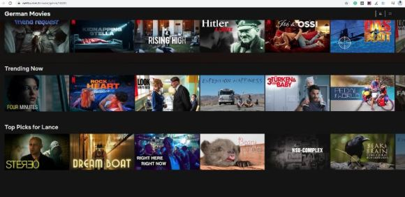 Netflix Categories from the letter G