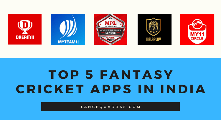 Top 5 Fantasy Cricket Apps in India