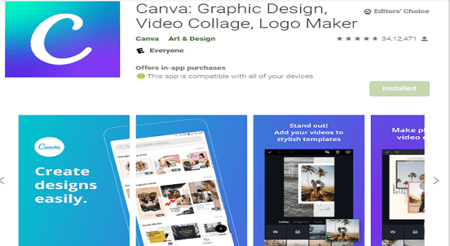 Canva is the Top Apps for Instagram