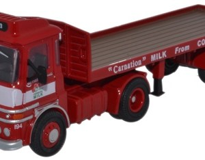 ERF LV FLATBED TRAILER CARNATION 1/76