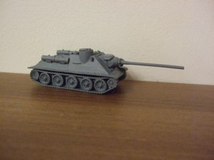 SU100 Tank resin body, metal gun and hatches