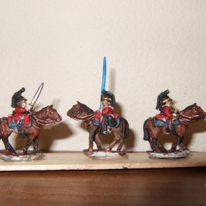 British Post 1812 Dragoon comm 3 figures