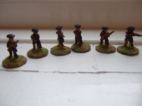 French skirmish long coats 6 figures