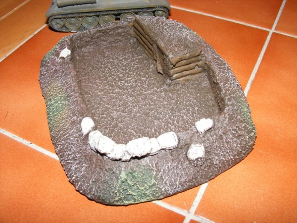 "HQ bunker and trench, 5"" by 4"""