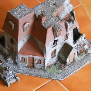 Normandy coastal building with lift off roof.