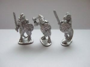 3 lizards sword armed with shields