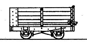 4-Wheel End Door Open Wagon (based on Vale of Rheidol Wagon)