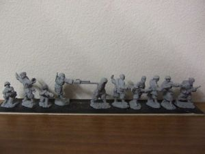 R4 Platoon command section moving 10 figures