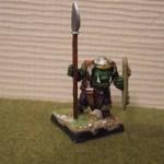 spear armed officer