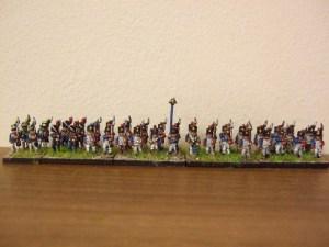 French 36 figure battalion Shako