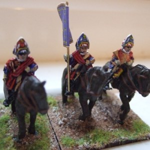 3 Heavy cavalry command wearing mitre