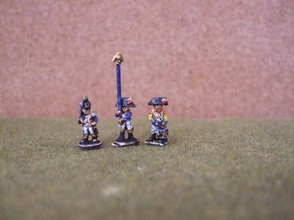 Line command pack, 1 officer 1 standard bearer 1 drummer