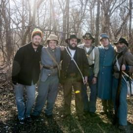 all of the civil war reenactors for the Joplin photonovel