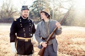 Lancelot Schaubert and Mark Neuenschwander as civil war soldiers joplin photonovel