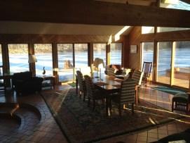makehouse retreat overlooking lake