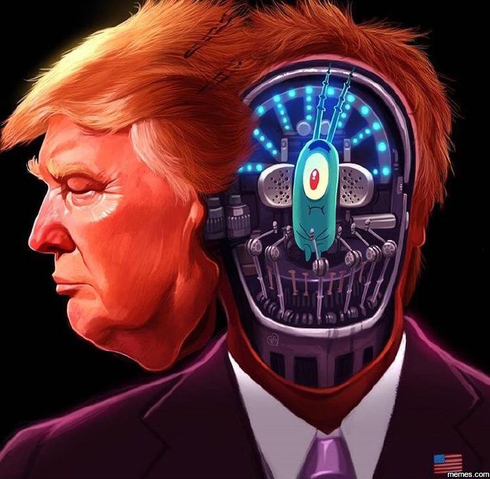 Trump as Plankton