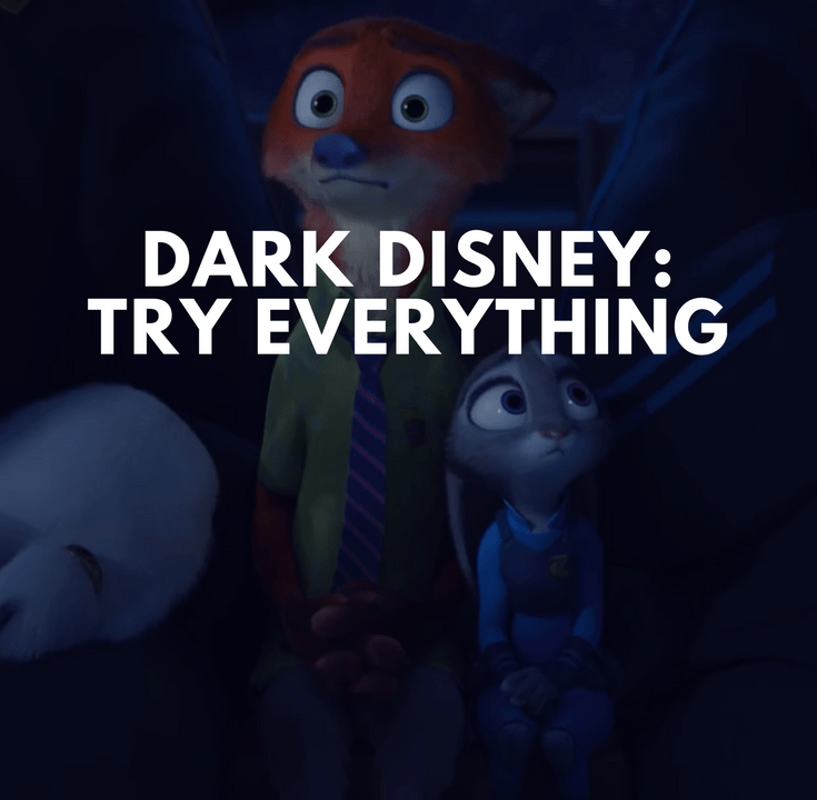 zootopia try everything dark disney