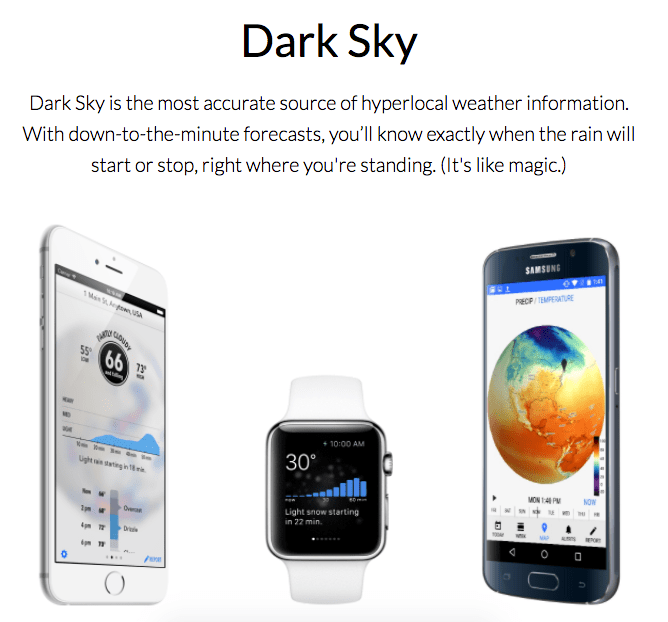 weather nyc app dark sky micrometeorology hyper local