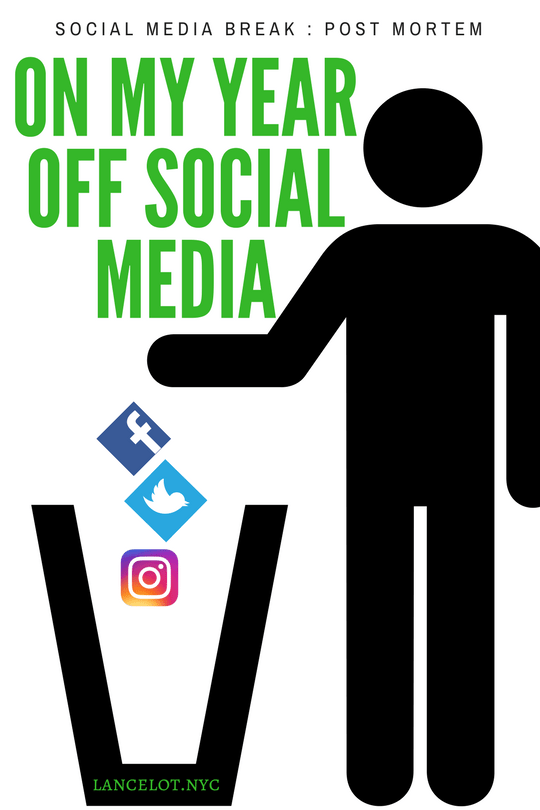 social media break post mortem on my year off social media quit social media social media is not real life