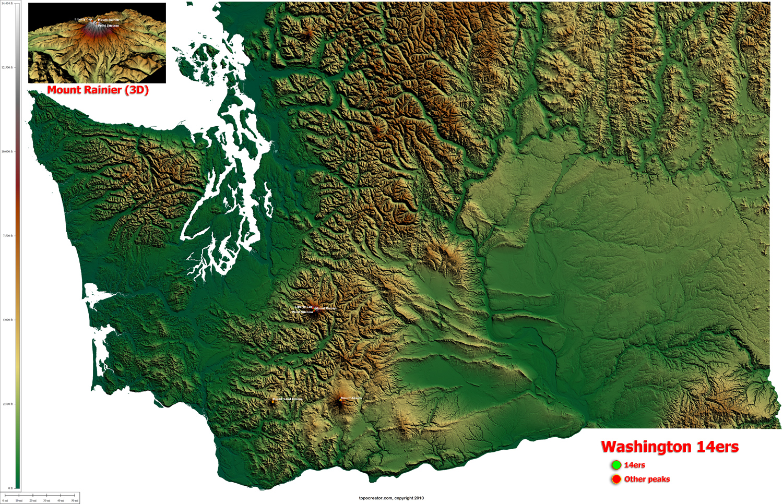 Washington Topography