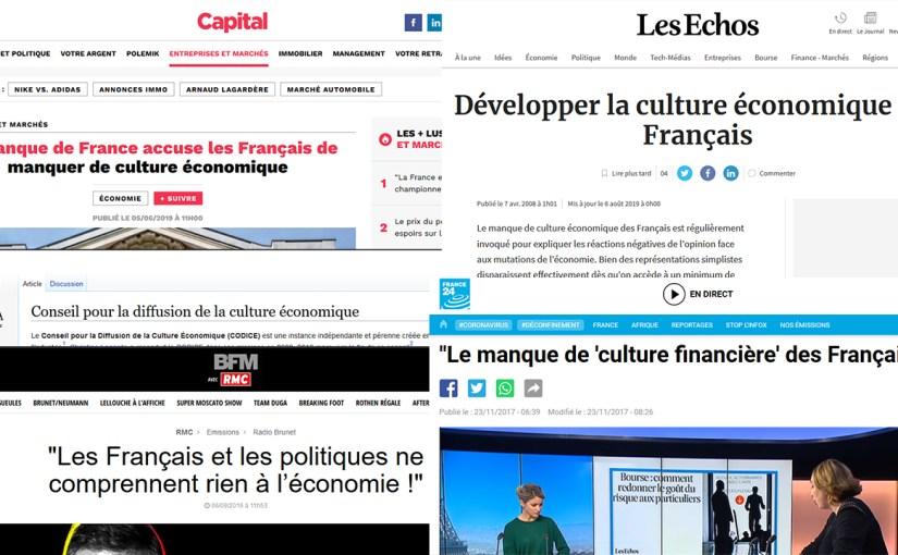 Les français manquent de culture économique ? Vilains !