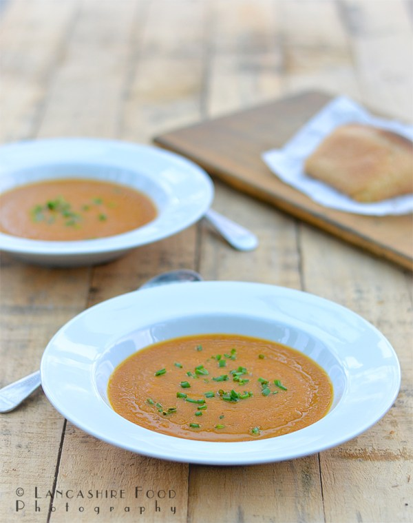 Maple Syrup, Roasted Carrot and Ginger Soup