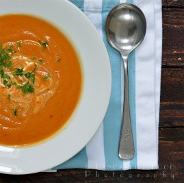 Spicy sweet potato, lentil and chipotle soup