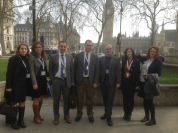 Here's me a couple of weeks ago, outside the UK Supreme Court in London, with the delegation from the KJI (that's me in the purple shirt).