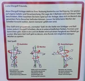Disc Golf Dülmen Anleitung