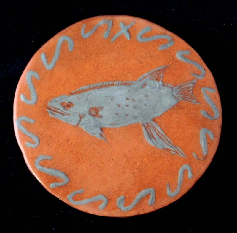 Silver slip fish coaster.
