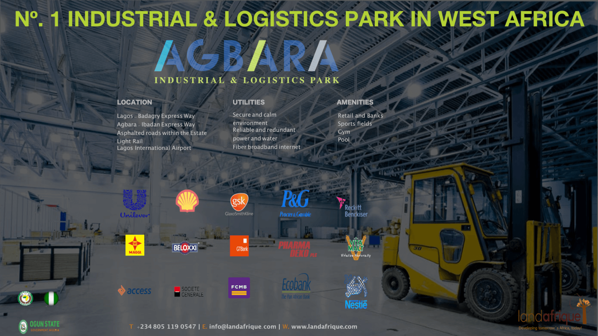agbara industrial park in ogun nigeria warehouse logistics unilever nestle Procter Shell  free zone enclave west park lekki lagos
