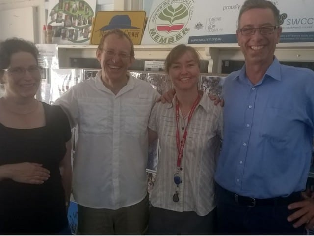 Dr Penny Hollick and Vanessa Slater (Shire of SJ), Prof. Mark Olson and Francis Smit (LandcareSJ)