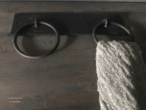 Metalen handdoeken ring dubbel